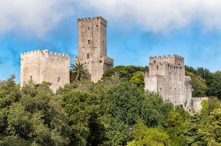 Hormanno Castle and Balio Towers Castle in Erice, Sicily, Italy