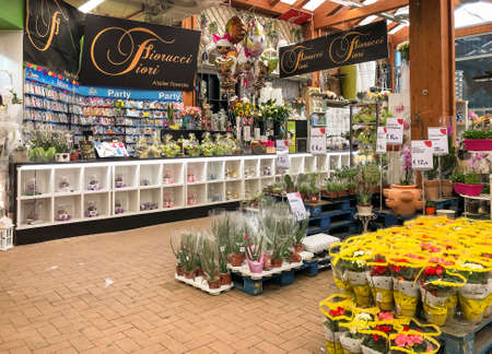 Varese, Italy - Marc 7, 2019: Gardening department inside of the IPER of Varese hypermarket, interior of the shopping center, Varese, Italy Editorial