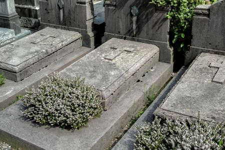 The Headstones and Graves of catholic Cemetery.