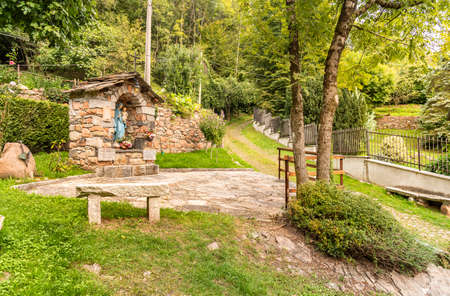 The Paths of the Regional Park of Brinzio, province of Varese, Lombardy, Italy Фото со стока