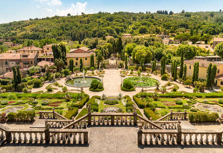 Historic Garden Garzoni in Collodi, in the municipality of Pescia, province of Pistoia in Tuscany, Italy