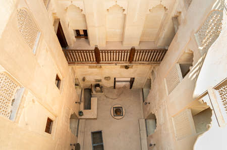 Bahla, Oman - February 11, 2020: View from above inside the Jabreen Castle in Bahla, Sultanate of Oman