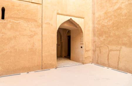Bahla, Oman - February 11, 2020: View inside the Jabreen Castle in Bahla, Sultanate of Oman