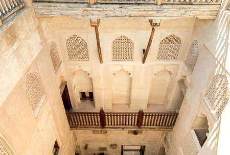 View from above inside the Jabreen Castle in Bahla, Sultanate of Oman 新聞圖片