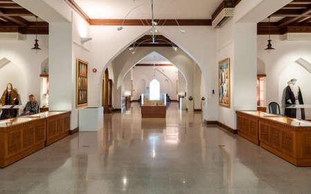 Muscat, Oman - February 10, 2020: Interiors of Bait Al Zubair Museum located in old Muscat od Sultanate of Oman 新聞圖片