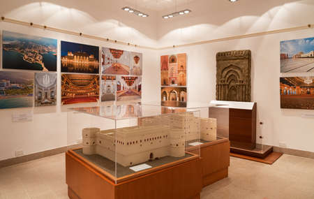 Muscat, Oman - February 10, 2020: Interiors of Bait Al Zubair Museum located in old Muscat od Sultanate of Oman Editorial