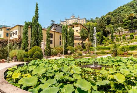 Collodi, Tuscany, Italy - July 3, 2019: Historic Garden Garzoni in Collodi, in the municipality of Pescia, province of Pistoia in Tuscany, Italy