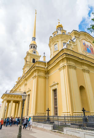 Peter and Paul Cathedral in Peter and Paul Fortress in Saint Petersburg. 免版税图像