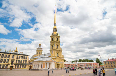 Peter and Paul Cathedral in Peter and Paul Fortress in Saint Petersburg. 新聞圖片
