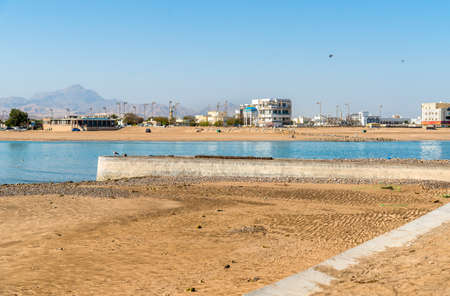 Landscape with panoramic view of Sur, Sultanate of Oman