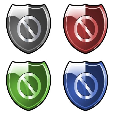 forbid: Shield. Armor. Forbid. Stock Photo