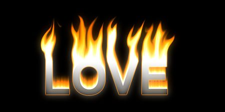 LOVE! Flaming LOVE Stock Photo - 2802853