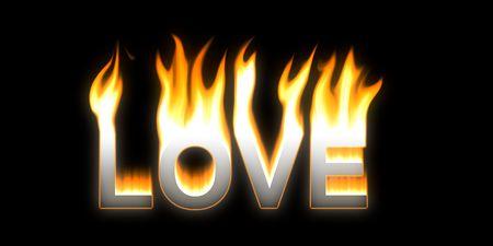 LOVE! Flaming LOVE Stock Photo - 2802853