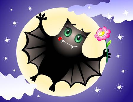 Cute bat Vector