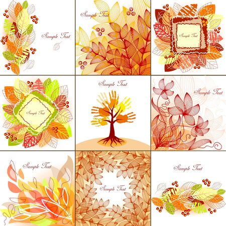Set of autumn backgrounds Stock Vector - 11126022