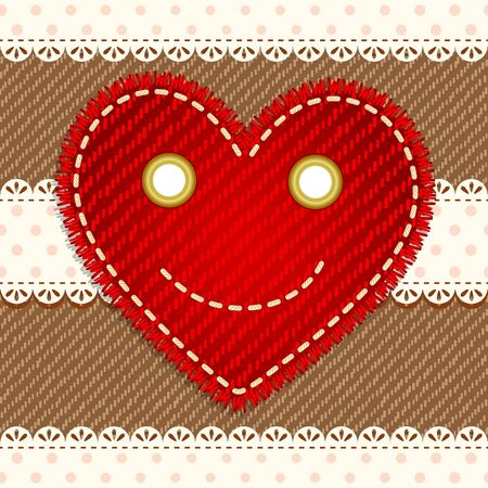 Cute smiling heart Vector