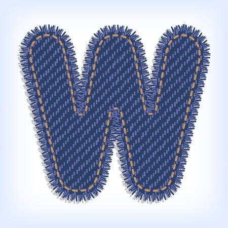 Jeans alphabet Vector