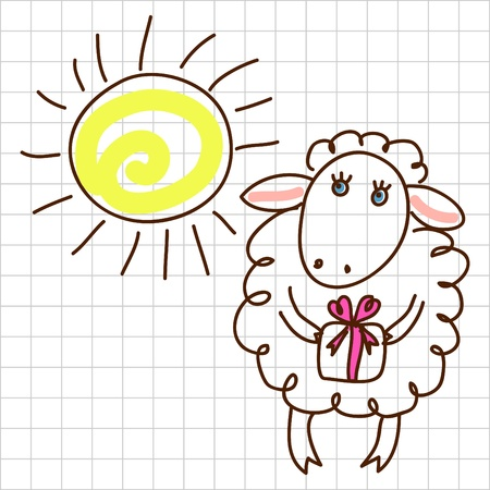 Cute sheep Stock Vector - 12367176