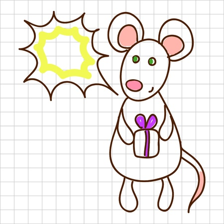 Cute mouse Stock Vector - 12367173