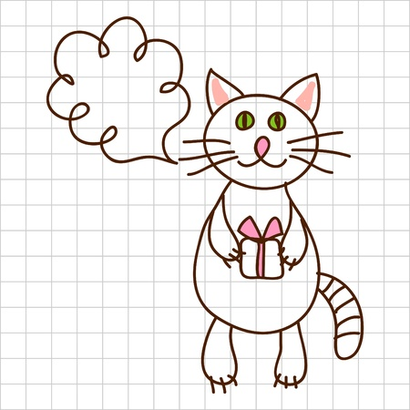 Cute cat Stock Vector - 12367177