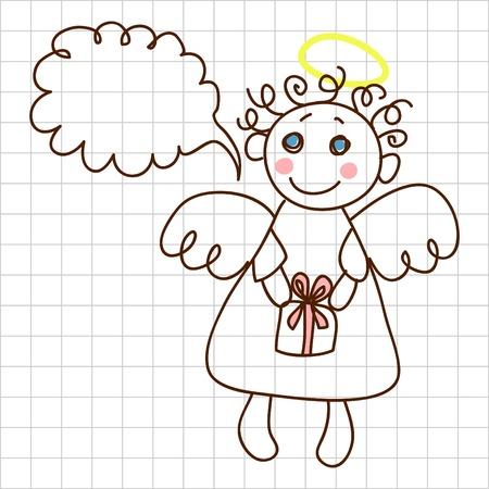 Cute angel Stock Vector - 12367175