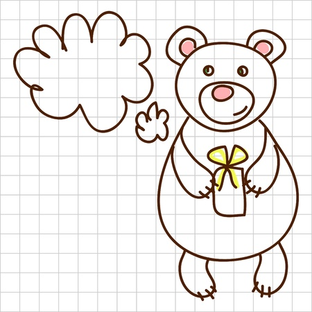 Cute bear Stock Vector - 12367174