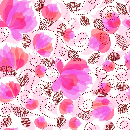 floral fabric: Seamless floral pattern