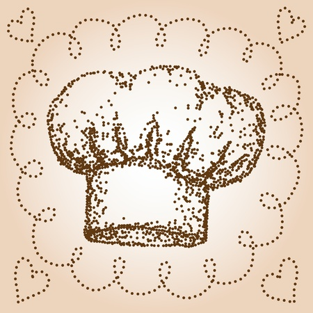 french cuisine: Chef hat Illustration