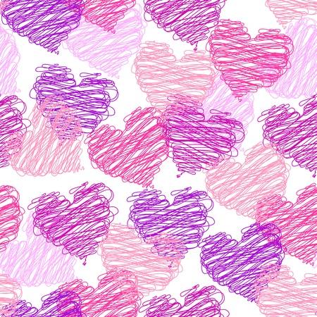 Valentine nahtlose Muster Illustration