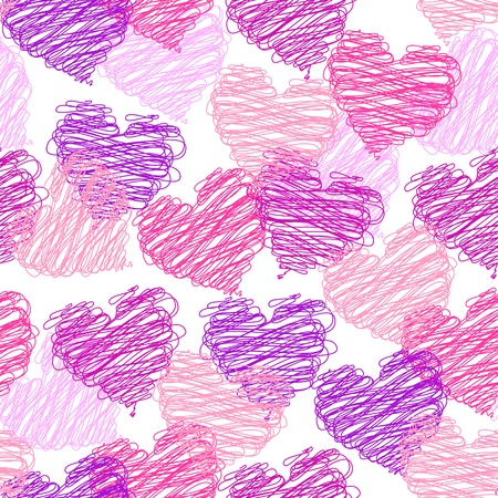 wallpaper modern abstract: Valentine seamless pattern Illustration