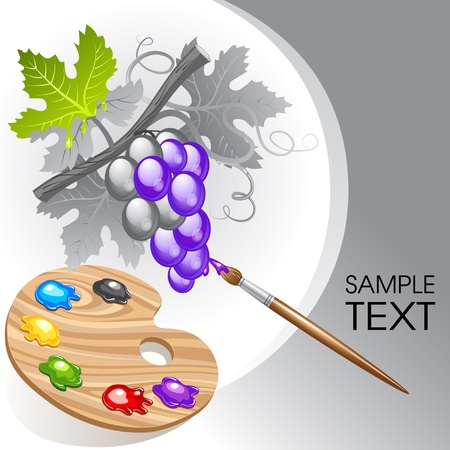 Coloring the grape Vector