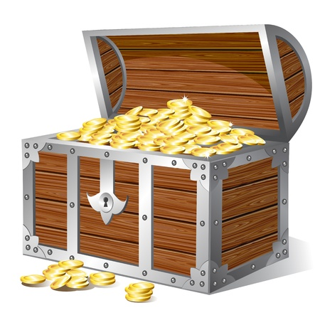 gold treasure: Treasure chest Illustration