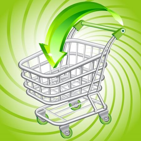 Einkaufswagen Vektorgrafik
