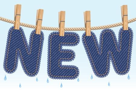 ballen: NEU Jeans Trocknen auf der W�scheleine
