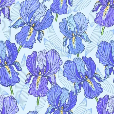 Purple Iris Vector