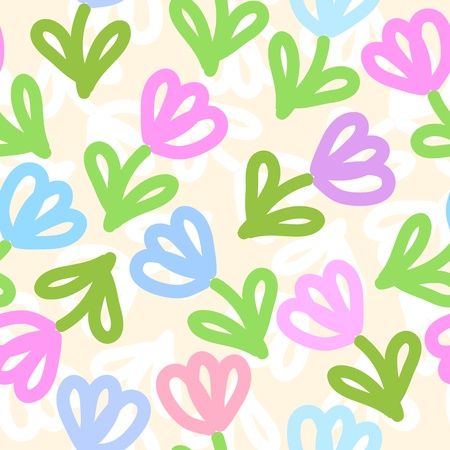 Seamless floral pattern Stock Vector - 13126614