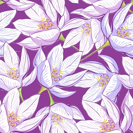 decorative wallpaper: Seamless floral pattern