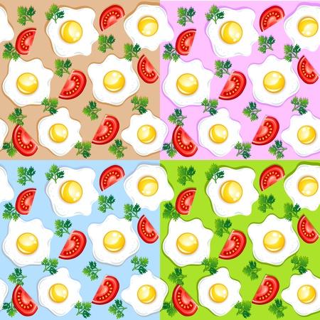 huevos fritos: los patrones de desayuno
