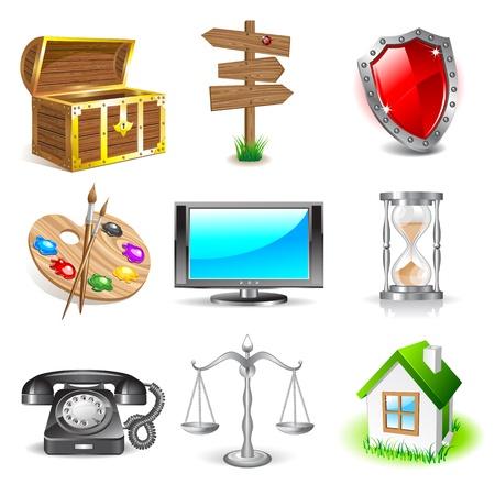 shiny shield: Set of icons