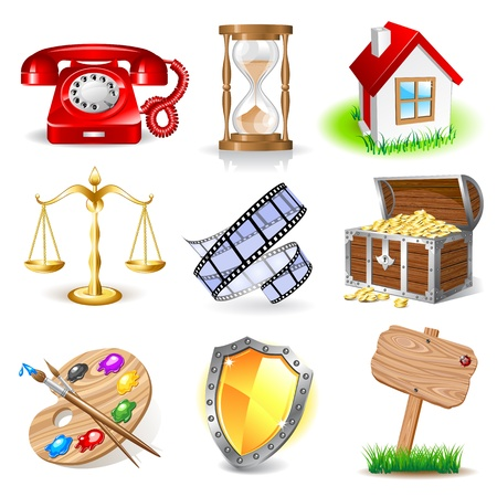 red telephone: Set of icons