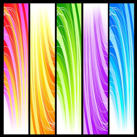 Set of five vertical decorative banners backgrounds Stock Vector - 13353973
