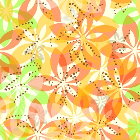Bloemen naadloze patroon Stock Illustratie