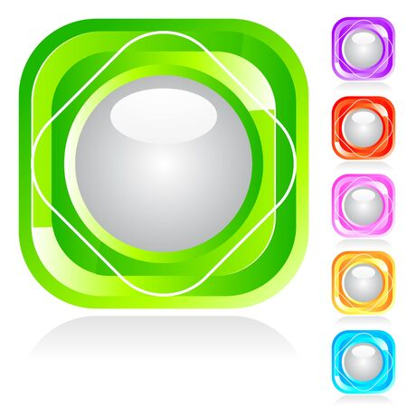 Set of shiny buttons in different colors Stock Vector - 13353977
