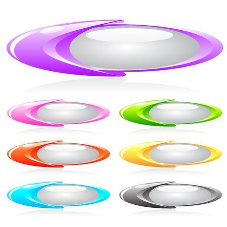 bouton brillant: Ensemble de boutons brillants de diff�rentes couleurs