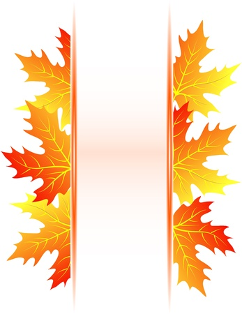 Autumn abstract background with falling maple leaves Vector