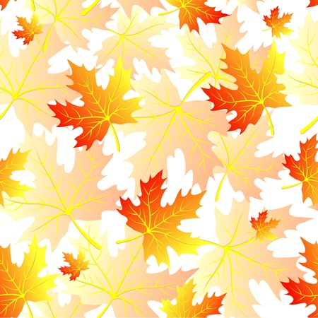 Seamless pattern with autumn falling maple leaves