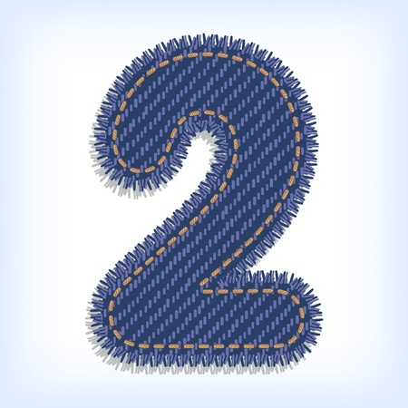 Digit two of jeans alphabet Vector