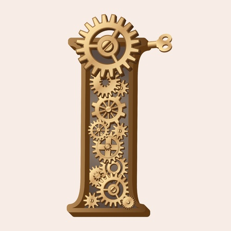clock gears: Mechanical alphabet