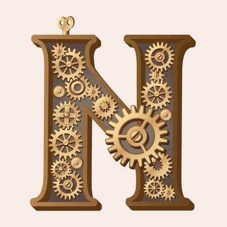 watch gears: Mechanical alphabet