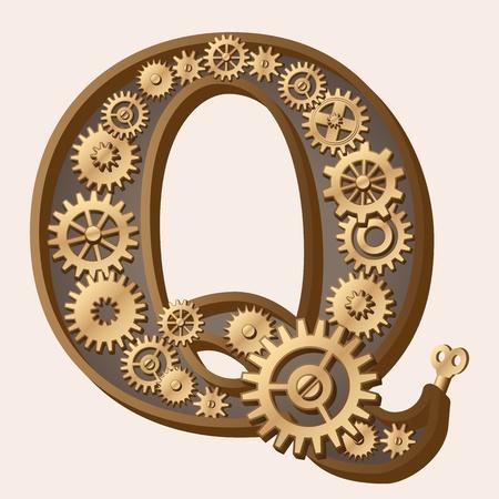 Mechanical alphabet Stock Vector - 13806367